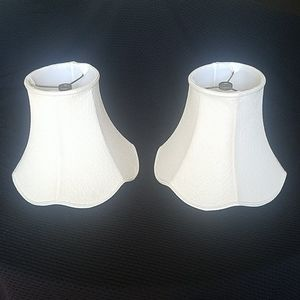 Vintage scalloped lampshades